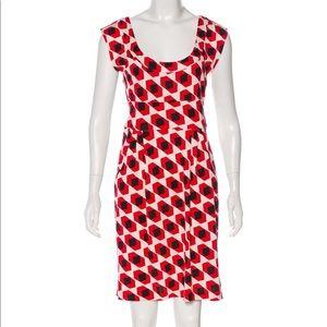DVF: silk abstract print dress size 6